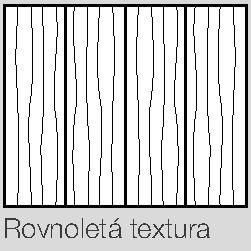 dýha / rovnoletá textura
